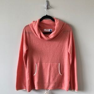 """Anthropologie """"Sparrow"""" Cowl Neck Coral Pullover"""